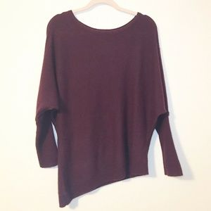 Chico's 100% Cashmere Asymmetrical Sweater